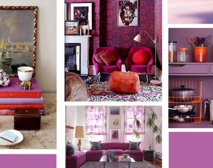 Pantone kleur 'Radiant Orchid' met Orchidee en Anthurium