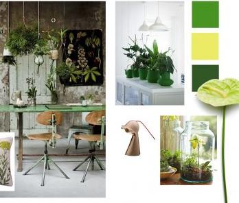Apuesta por el verde con el estilo jungla urbana